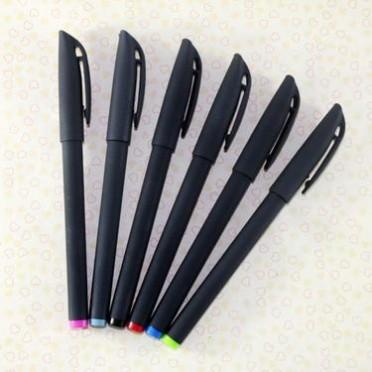 广告礼品笔定制LOGO 334 碳素水笔 磨砂喷胶中性笔 水性笔 签字笔
