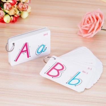26張筆順字母卡片英文字母卡片開學練習英文拼音筆順卡代扣字母卡