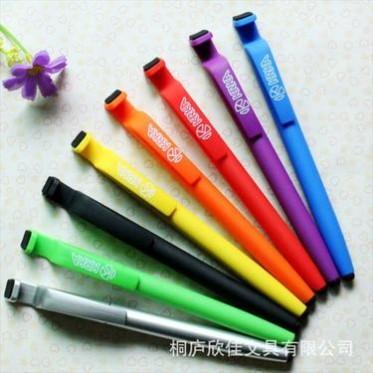 新款手机支架圆珠笔 广告笔 擦屏笔 促销小礼品 可以印刷logo