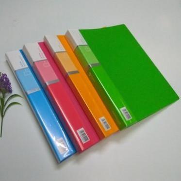 欢乐色30页资料册 韩版炫丽整理夹 A4加厚型透明插页夹 厂家直销